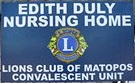 Please support the Edith Duly Nursing Home
